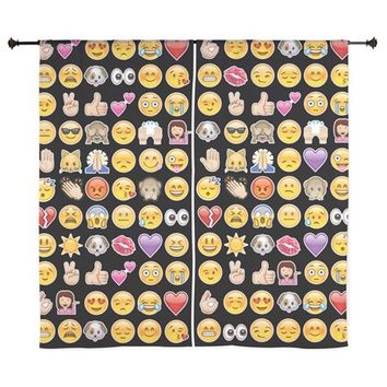 black emoji Curtains