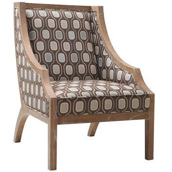 Armen Living Sahara Solid Wood Accent Chair