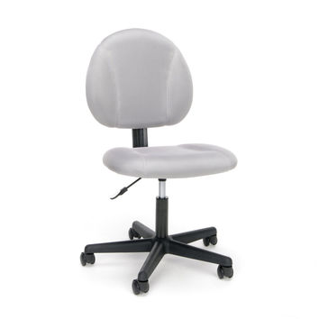 Essentials Swivel Upholstered Armless Task Chair - Ergonomic Computer/Office Chair Gray (ESS-3060)