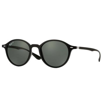 Ray Ban RB4237 601S58 Liteforce Round Sunglasses Black Polarized Green G-15 50mm