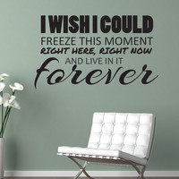 I Wish I Could Freeze This Moment Peeta Hunger Games Wall Decal Vinyl Bedroom Family Room Living Room Wall Art More Colors Available