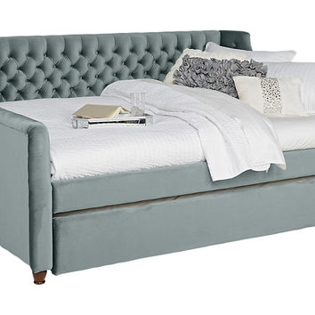 Alena Blue 2 Pc Twin Daybed with Trundle - Beds Colors