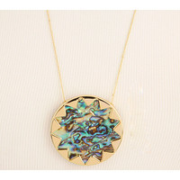 House of Harlow 1960 Sunburst Pendant with Abalone Shell 14K Yellow Gold Plated - Zappos.com Free Shipping BOTH Ways