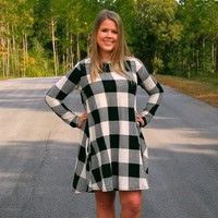 Plaid Swing Dress Plus