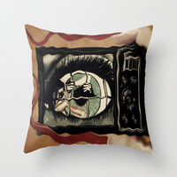 Eye Solation  Throw Pillow by    Amy Anderson