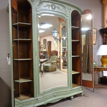 19th Century French Antique Louis XVI Style 3-Door Armoire