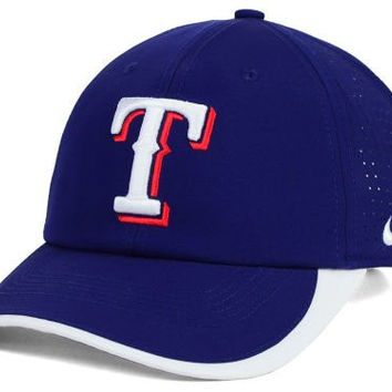 Texas Rangers MLB Nike Legacy 91 Featherlite Ventilated Velcro Strapback Baseball Hat Cap Feather Light Arlington Dallas