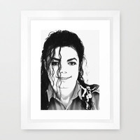 KING OF POP  Framed Art Print by Ylenia Pizzetti | Society6