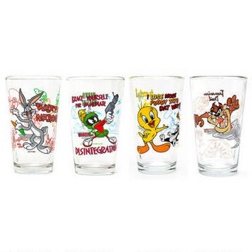 Looney Tunes Pint Glass Four Pack Set | WBshop.com