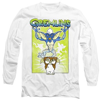Gremlins Long Sleeve T-Shirt Scared Gizmo White Tee