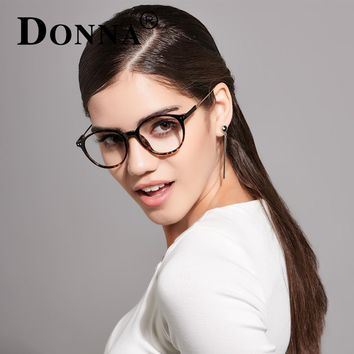Donna Ladies Vintage Eyewear Glasses Frames Oversize TR90 Women Men Optical Eyeglasses Frame Ultra Light Frame Clear DN20