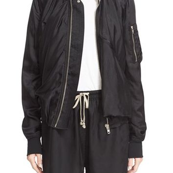 Rick Owens Draped Ripple Flight Jacket | Nordstrom