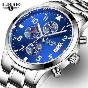 Relogio Masculino LIGE Mens Watches