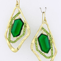 Metal Wraped Jewel Emeralds