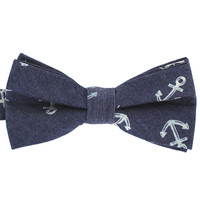 Tok Tok Designs Pre-Tied Bow Tie for Men & Teenagers (B387, 100% Cotton, Denim)