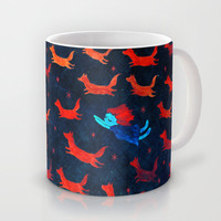 flight of the foxes Mug by Wirrow