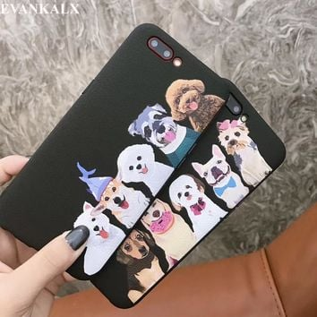 EVANKALX New Cute Couple Animal World Soft TPU Phone Case For iPhone 8 7 6 6S 7/8 Plus Coque Funda Capa For iPhone 8 7 6 6S X