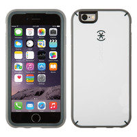 Speck MightyShell iPhone 6/6s Plus Case, White/Charcoal Grey/Slate Grey