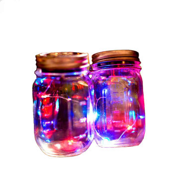 1 Pcs Creative Solar Mason Jar Cover Fairy Light