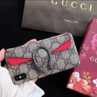 Wallet Leather Stylish GUCCI Fashion Cover Case for iPhone