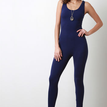Work Me Out Royal Long Jumpsuit