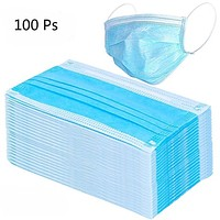 50pcs/pack Disposable Face Mask 3 Layer Salon Dust Ear Loop Medical Mouth Flu Mask