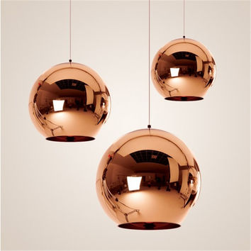 Modern Glass Ball Pendant Lights Globe Lampshade Pendant Lamp Kitchen Hanging Lamp Light Fixture Lustre de Led Ceiling luminaire