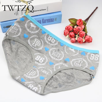 TWTZQ 2017 New Arrival Cotton Dog Underwear Women Cute Panties Lady Sexy Underwear Comfortable Pink Girl Briefs 2NK083
