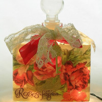 A Bit of Rose Fragrance Perfume Bottle  Nightlight ( Night Light )