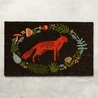 Ringed Fox Doormat by Anthropologie in Orange Size: One Size Rugs