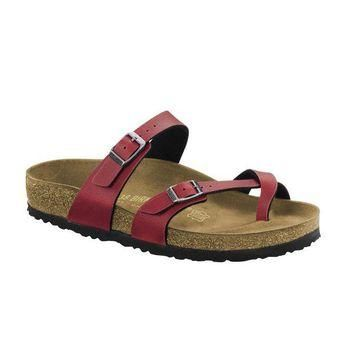 VON7Y1 Beauty Ticks Birkenstock Classic Mayari Pull Up Regular Fit Bordeaux