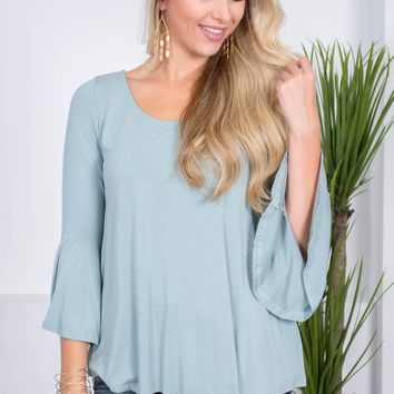 June Mint Bella Top