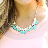 Summer Sparkles Necklace in Turquoise