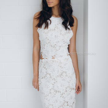 kayleigh lace two piece - ivory