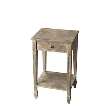 Etched Wood, Stone, and Brass Side Table by Butler Specialty Company 2291290