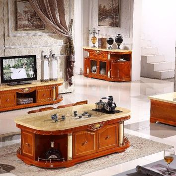 coffee table+end table+TV stand+console table made in China furniture wooden living room set