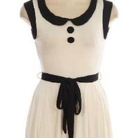 Vintage Anthropologie Inspired White & Black Mod 60's Fabulo