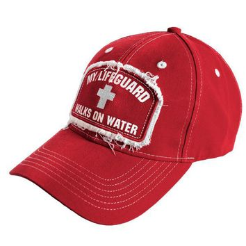 Christian Faith Baseball CAP Hat My Lifeguard Walks On Water Show Your FAITH  One Size