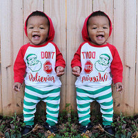 Christmas Kids Baby Boys Girls Clothes Outfits Sleepwear Nightwear Pajamas Set