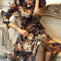Floral Printed Organza Long Sleeves Mini Dress