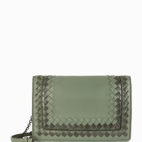 Bottega Veneta Patent Trim Montebello Clutch Bag | Harrods.com