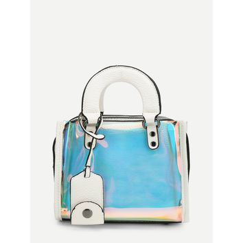 Double Handle Iridescence Tote Bag