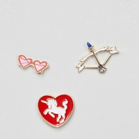 Reclaimed Vintage Love Pin Set at asos.com