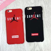 Jordan Supreme Print  Iphone 7 7 Plus & 6 6S Plus Cover Case In Black & Red