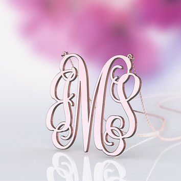 Personalized monogram  1 inch or customized -- nameplate necklace jewelry--best present