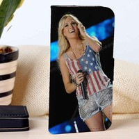 Carrie Underwood | Singer | Music | custom wallet case for iphone 4/4s 5 5s 5c 6 6plus case and samsung galaxy s3 s4 s5 s6 case