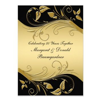 Vintage 50th Wedding Anniversary Invitation from Zazzle.com
