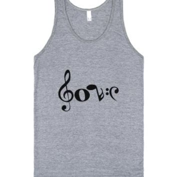 Love Notes-Unisex Athletic Grey Tank