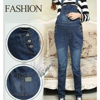 Denim Maternity Suspender Trousers Jeans Maternity Pant for Pregnant Women Clothes