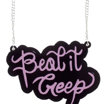 PUNKY PINS BEAT IT CREEP NECKLACE